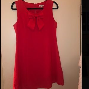 Red/orange dress with bow